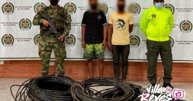 Dos hombres detenidos por el hurto de cable de cobre en Puerto Gaitán