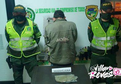 Llevaba 267 gramos de marihuana cuando lo capturaron