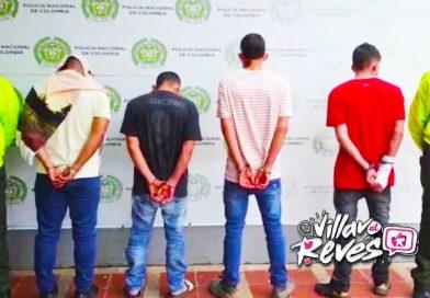 """Alias """"Los Gemelos"""", """"Calibre"""", """"Olímpico"""" y """"Listerine"""" fueron capturados en Villavicencio"""