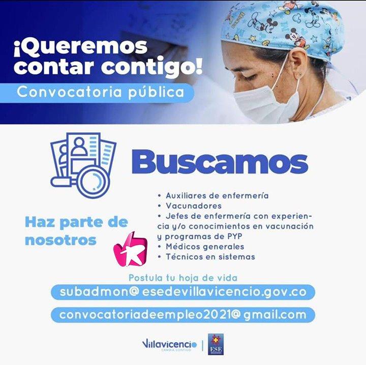 Convocatoria del personal de salud para fortalecer el plan de vacunación en Villavicencio - Noticias de Colombia