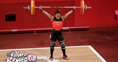 Mércedes Pérez recibió diploma olímpico en levantamiento de pesas Tokio 2021