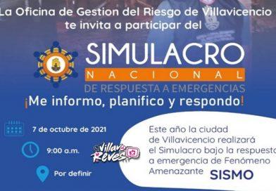 Este 7 de octubre se realizará el Simulacro Nacional de respuesta a Emergencias
